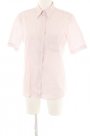 Eterna Chemise à manches courtes rose clair-blanc motif rayé