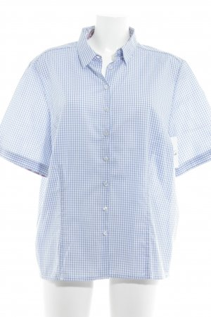 Eterna Short Sleeve Shirt azure-white floral pattern casual look