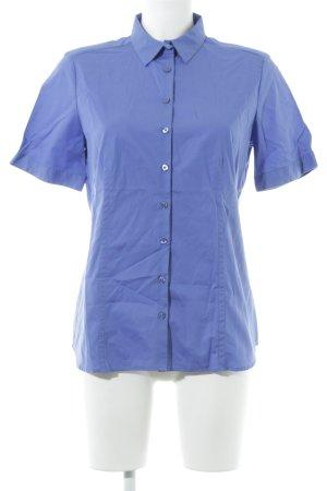 Eterna Kurzarmhemd kornblumenblau Business-Look