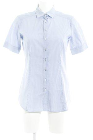 Eterna Kurzarmhemd stahlblau Streifenmuster Casual-Look