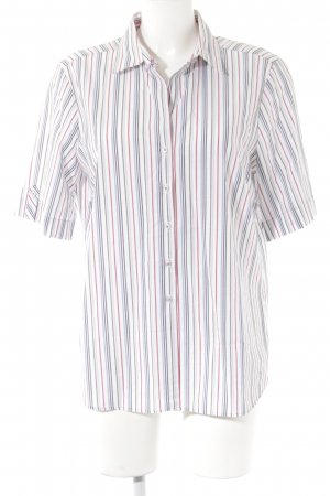 Eterna Short Sleeve Shirt striped pattern casual look