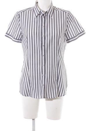 Eterna Camicia a maniche corte bianco-grigio stile professionale