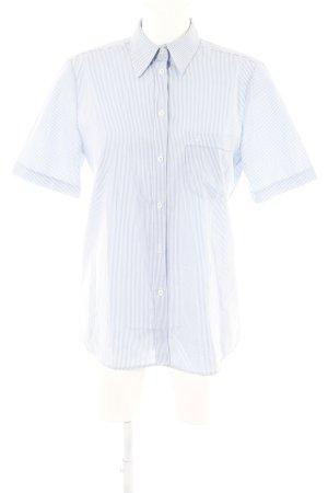 Eterna Chemise à manches courtes blanc-bleu azur motif rayé