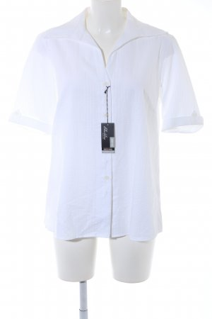 Eterna Short Sleeve Shirt white striped pattern business style
