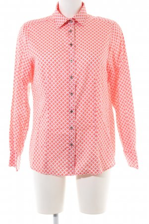Eterna Langarm-Bluse rot-weiß Allover-Druck Casual-Look