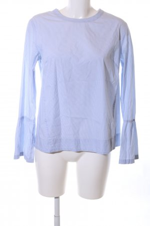 Eterna Langarm-Bluse weiß-blau Streifenmuster Casual-Look