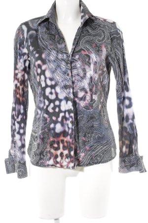 Eterna Langarm-Bluse abstrakter Druck Casual-Look