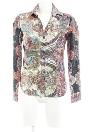 Eterna Langarm-Bluse abstraktes Muster Boho-Look