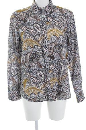 Eterna Langarm-Bluse abstraktes Muster extravaganter Stil
