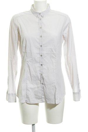 Eterna Langarm-Bluse beige-weiß grafisches Muster klassischer Stil