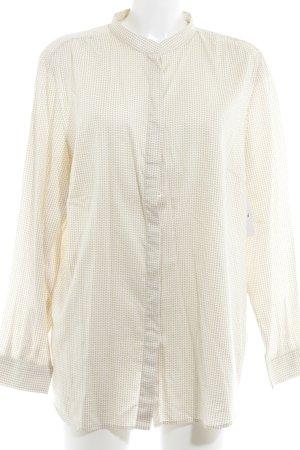 Eterna Langarm-Bluse beige-wollweiß Ornamentenmuster Casual-Look