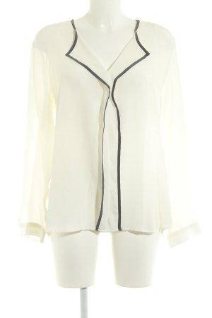 Eterna Langarm-Bluse creme schlichter Stil