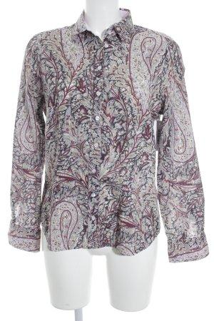 Eterna Langarm-Bluse florales Muster Casual-Look