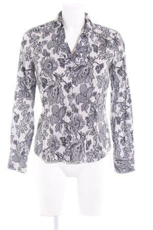 Eterna Langarm-Bluse florales Muster extravaganter Stil