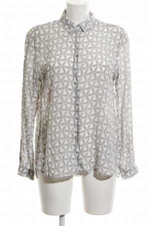 Eterna Langarm-Bluse grafisches Muster Street-Fashion-Look