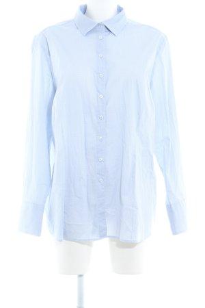 Eterna Langarm-Bluse himmelblau-weiß abstraktes Muster Business-Look