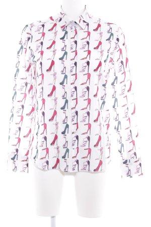 Eterna Langarm-Bluse Motivdruck Street-Fashion-Look