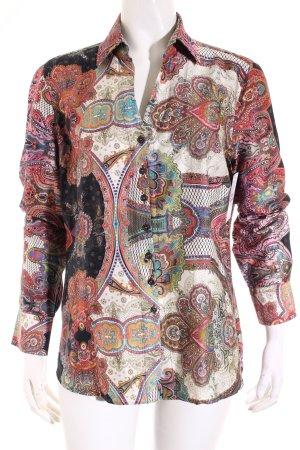 Eterna Langarm-Bluse pink-hellbeige Paisleymuster Casual-Look