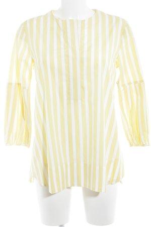 Eterna Langarm-Bluse weiß-gelb Streifenmuster klassischer Stil