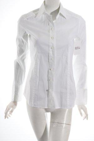 Eterna Langarm-Bluse weiß klassischer Stil