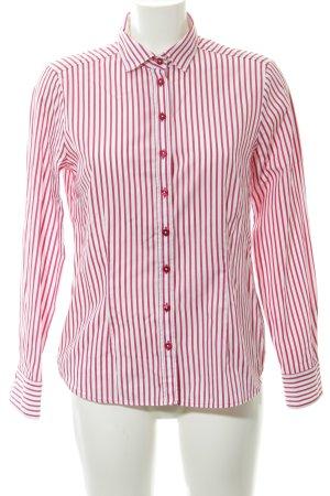 Eterna Langarm-Bluse weiß-pink Streifenmuster Business-Look