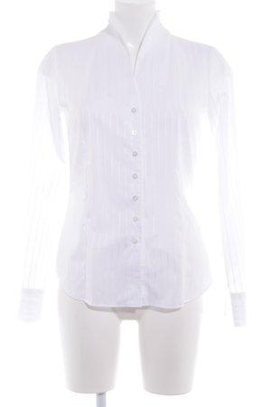 Eterna Langarm-Bluse weiß Streifenmuster Elegant