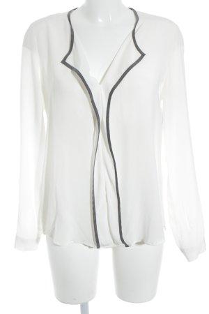 Eterna Langarm-Bluse wollweiß-grau Elegant