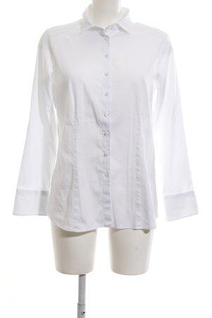Eterna Shirt met lange mouwen wit zakelijke stijl