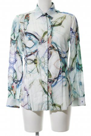 Eterna Langarmhemd abstraktes Muster Business-Look