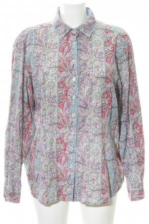 Eterna Langarmhemd abstraktes Muster extravaganter Stil