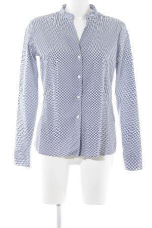 Eterna Langarmhemd dunkelblau-weiß Punktemuster Business-Look