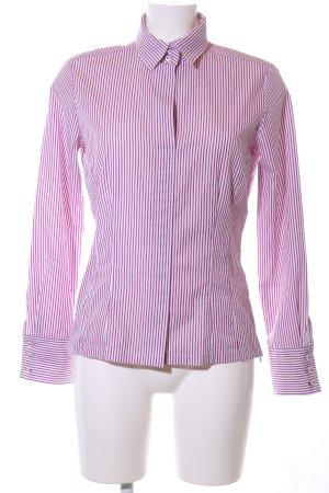 Eterna Langarmhemd pink-weiß Streifenmuster Business-Look