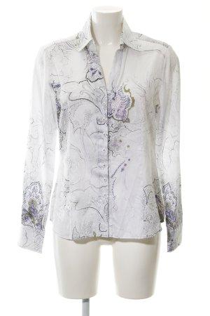 Eterna Langarmhemd florales Muster