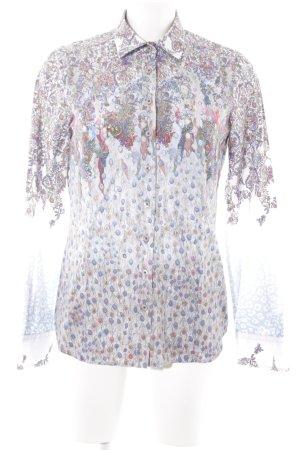 Eterna Langarmhemd florales Muster extravaganter Stil