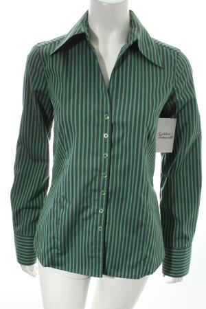 Eterna Langarmhemd grün-grau Streifenmuster Business-Look