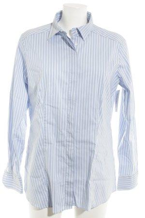 Eterna Langarmhemd himmelblau-weiß Streifenmuster Casual-Look