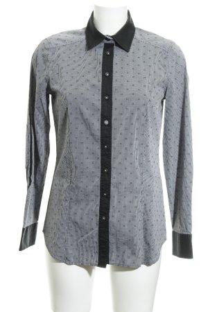 Eterna Langarmhemd schwarz-weiß Karomuster Casual-Look