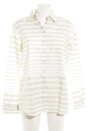 Eterna Langarmhemd weiß-creme Streifenmuster Casual-Look