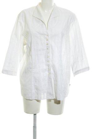 Eterna Langarmhemd weiß-hellbeige Mustermix schlichter Stil