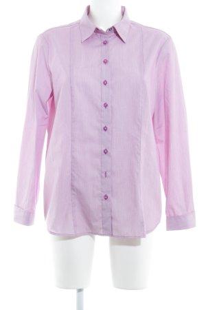 Eterna Langarmhemd weiß-purpur Streifenmuster Business-Look