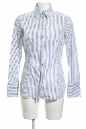 Eterna Long Sleeve Shirt natural white-slate-gray striped pattern simple style
