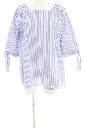 Eterna Long Blouse blue-white striped pattern casual look