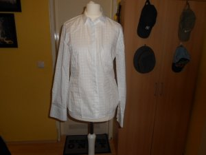 Eterna- weiße karierte Bluse Gr. 36