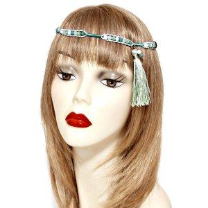 Haarband veelkleurig Glas