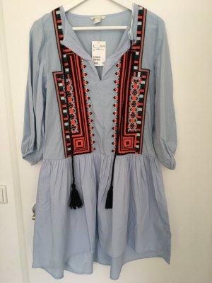 Ethno Hippie Kleid mit Stickereien neu