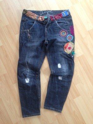 Ethno-Jeans im boyfriend-fit von Desigual, Gr. 38/ Gr.28