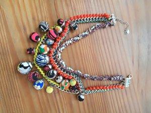 Zara Collier multicolore matériel synthétique