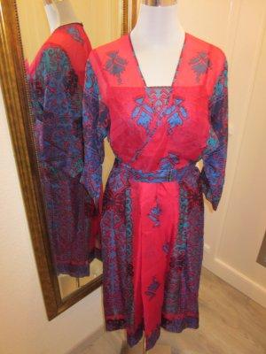 Ethno Kleid Pink Blau Gr S