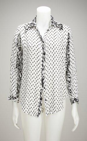 Ethno-Print Bluse aus leichtem, feinen Stoff