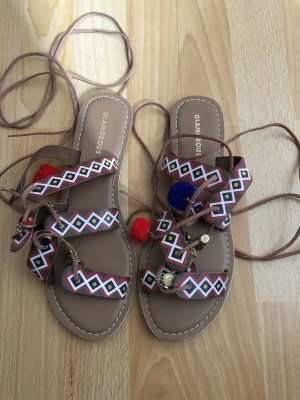 Glamorous Roman Sandals multicolored